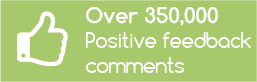 Over 250,000+ Positive Feedbacks